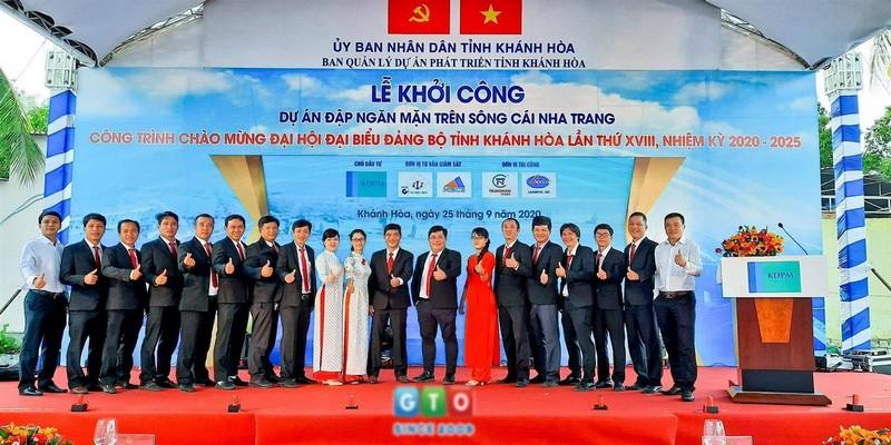 Khởi công dự án Đập ngăn mặn trên sông Cái Nha Trang